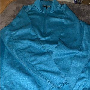 Light blue half zip sweater